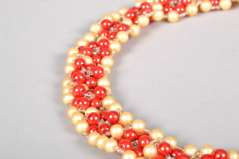 Bright beaded necklace photo 4
