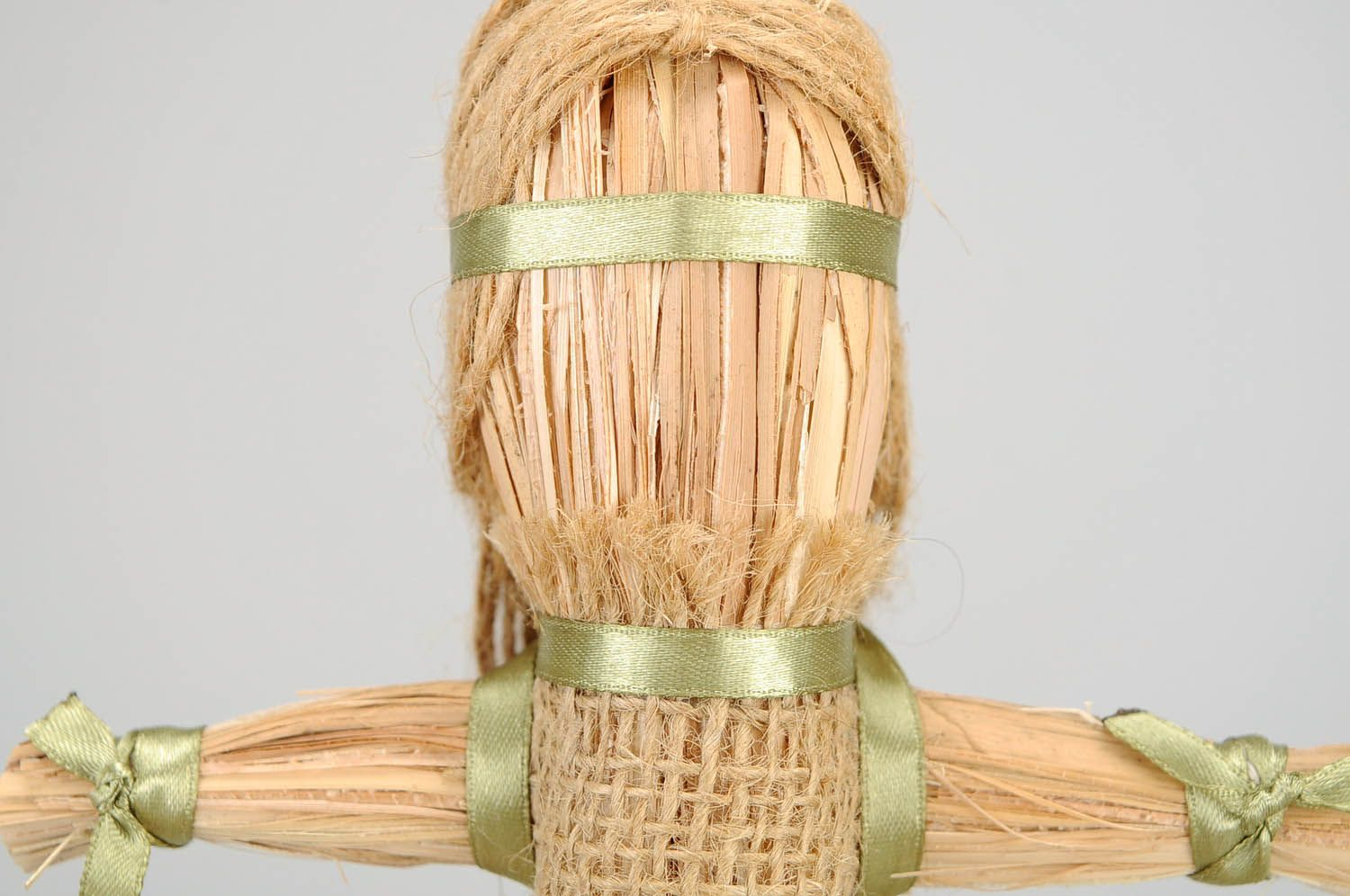 Amulet doll made of linen cord photo 5