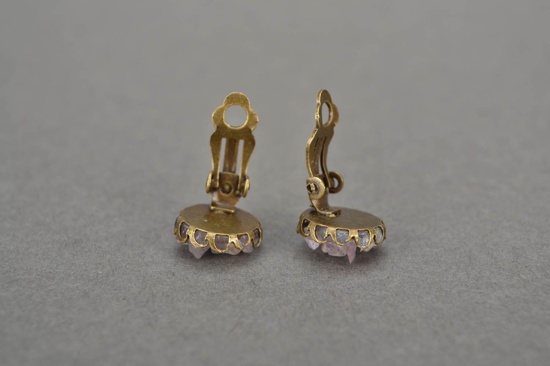 Kleine Ohrringe mit Amethyst  foto 5