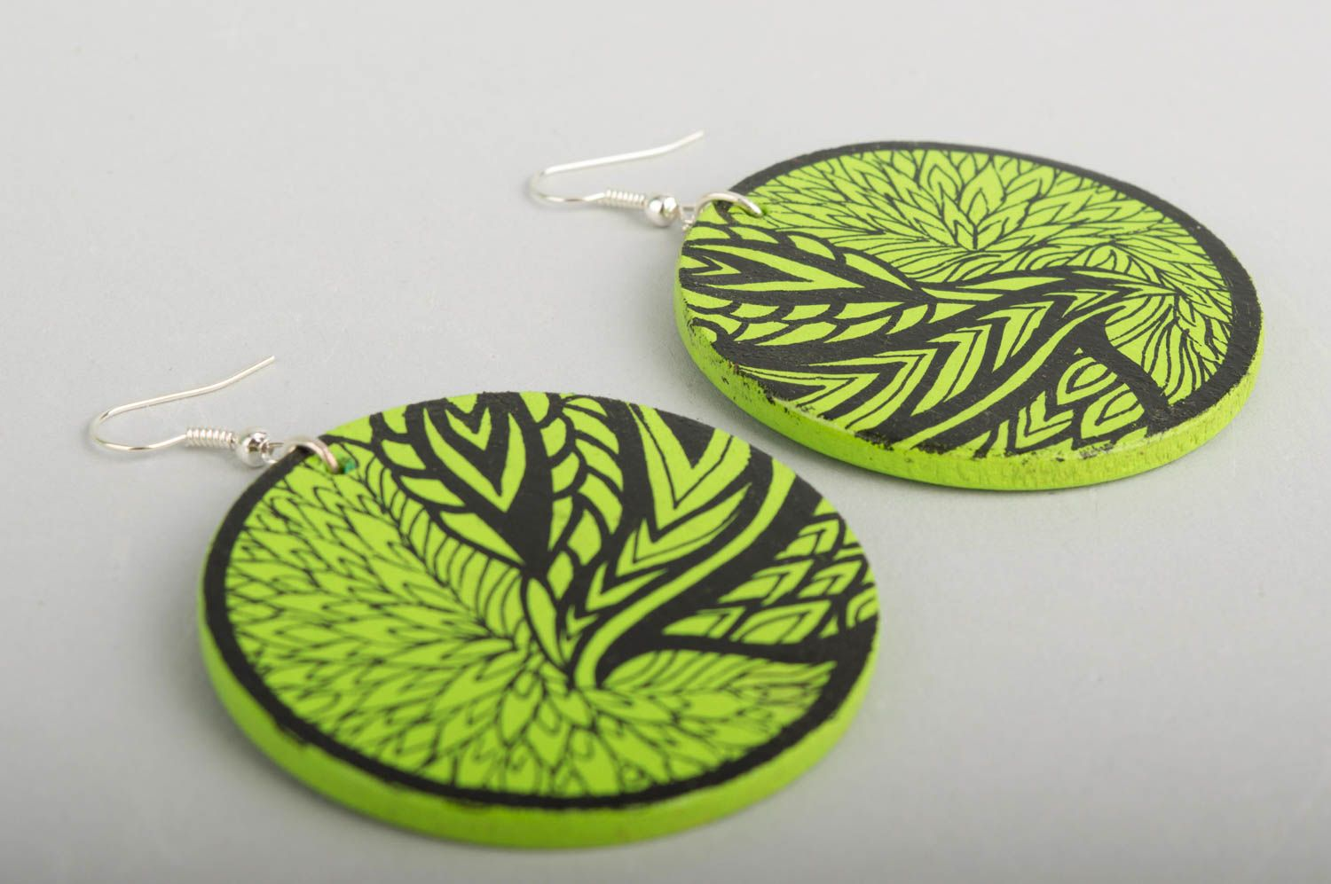 Fashion jewelry handmade earrings wooden jewelry designer accessories gift ideas photo 4
