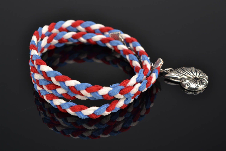 Suede wrist bracelet Seashell photo 1
