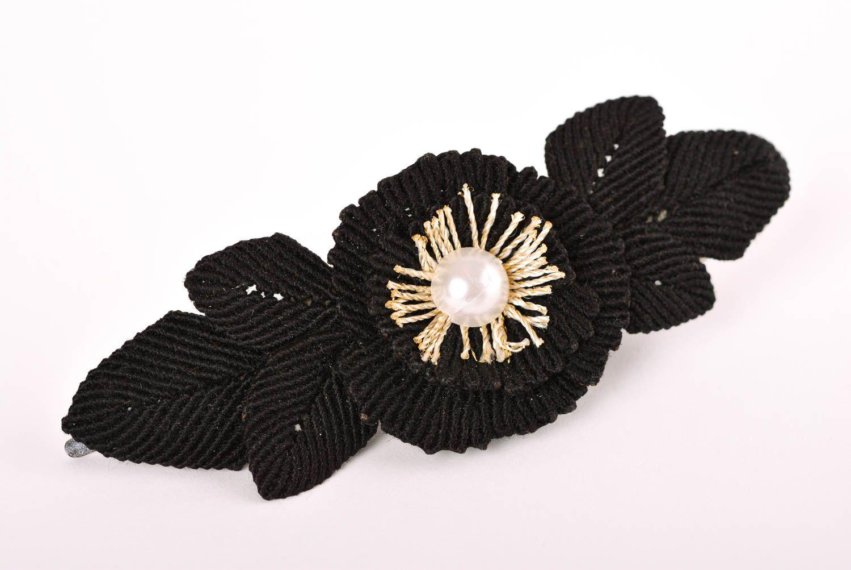 Haar Spange handgemacht Mode Accessoire in Schwarz Geschenk für Mädchen stilvoll foto 1