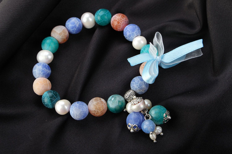 Unusual agate bracelet photo 1