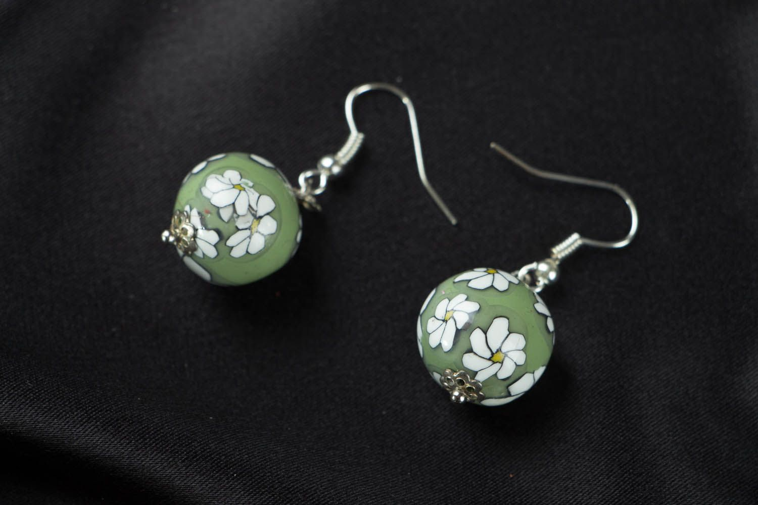 Designer polymer clay earrings  photo 1
