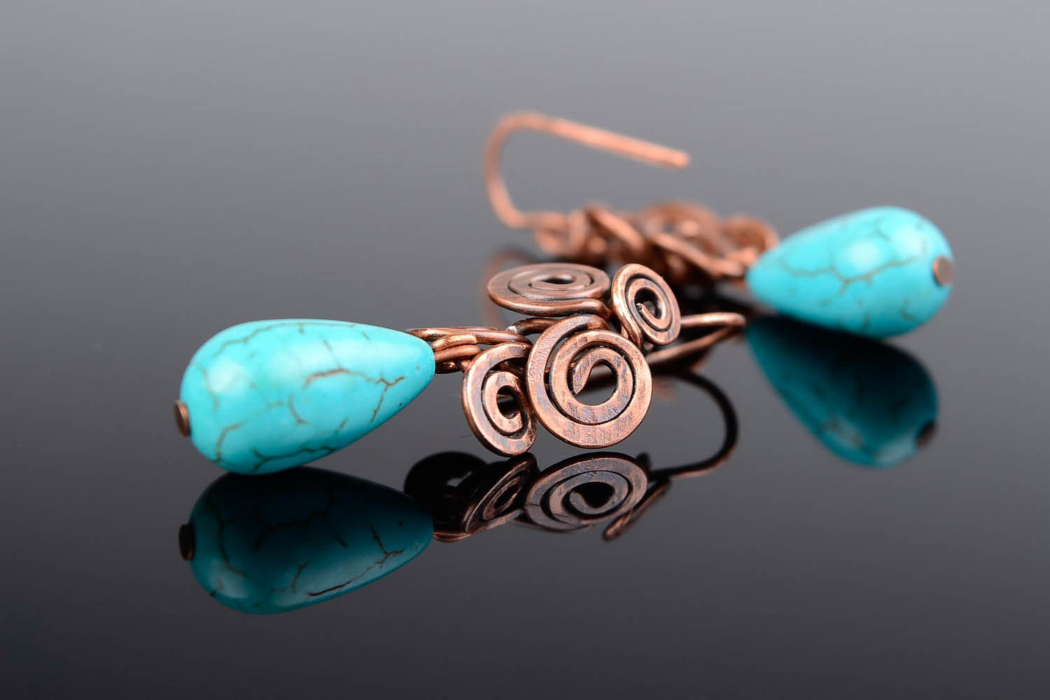 drop earrings Earring made of turquoise