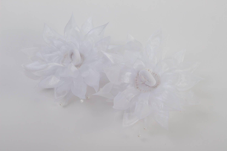 Madeheart Handmade Hair Accessories Set Of 2 Hair Ties Flowers For