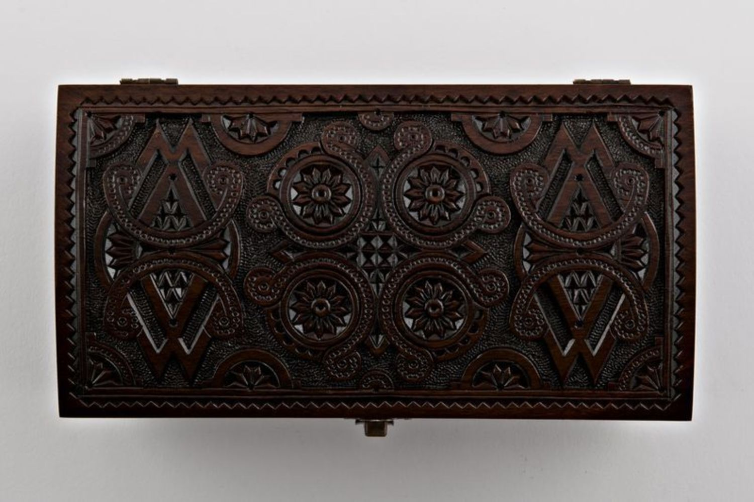 Carved wooden box photo 4