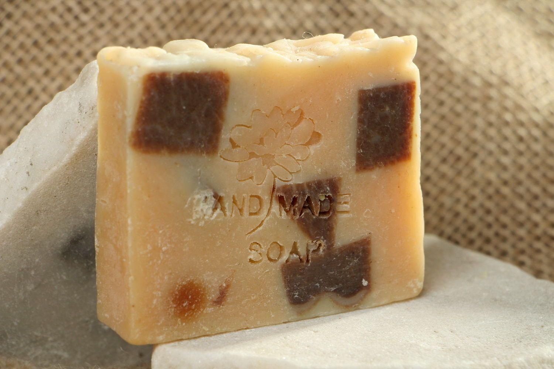 Handmade soap with pumpkin oil photo 1