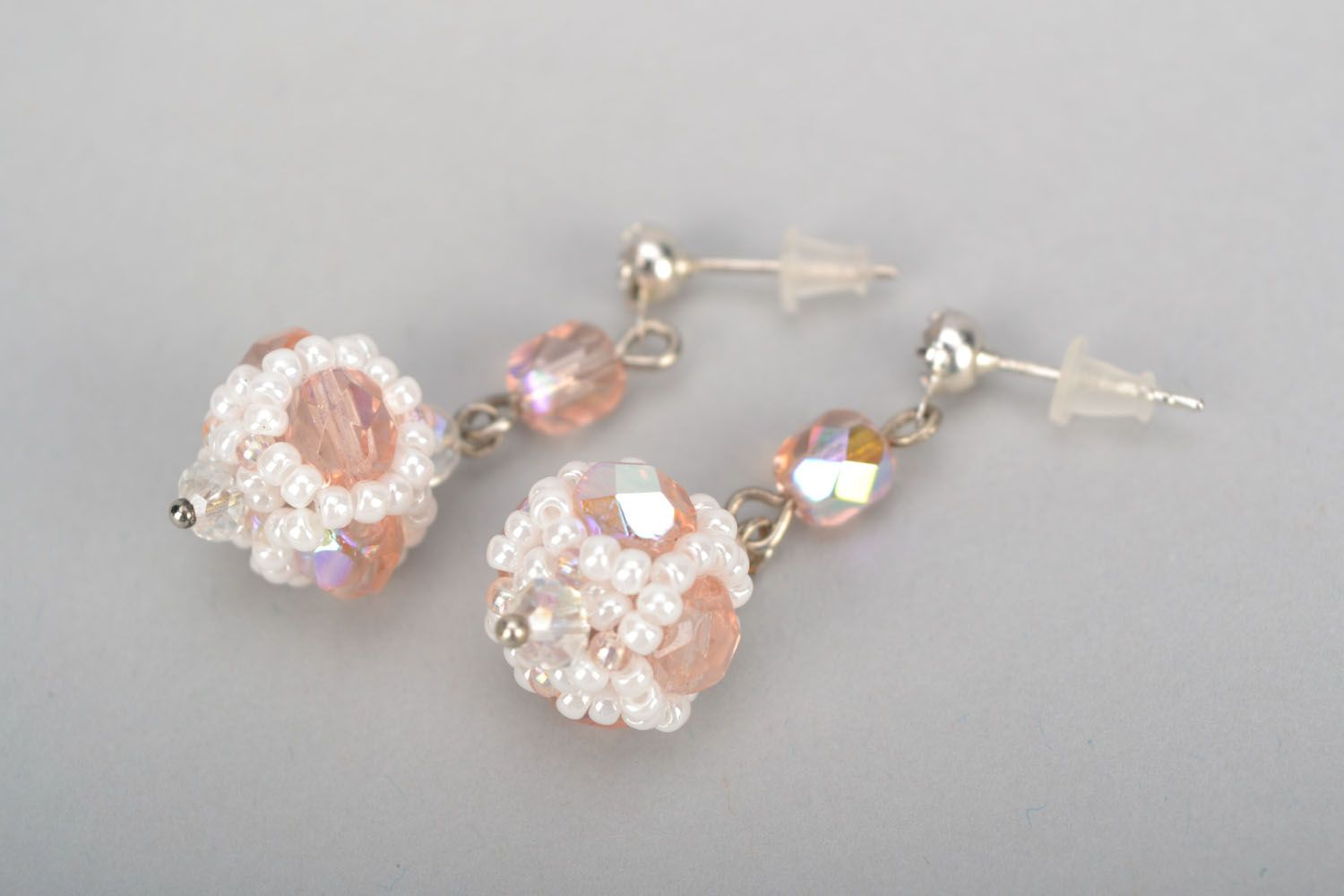 Long crystal earrings photo 5