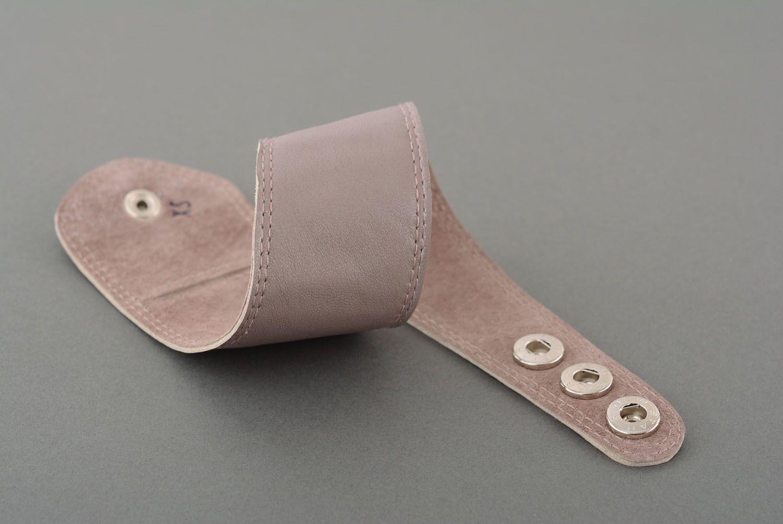 Breites Armband aus Leder foto 4