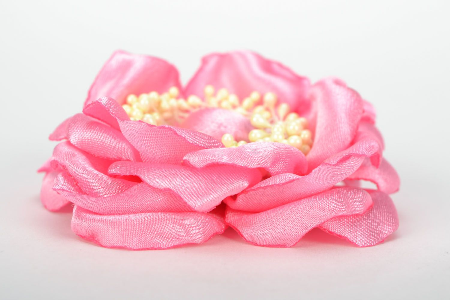 Flower brooch pin Pink Flower photo 4