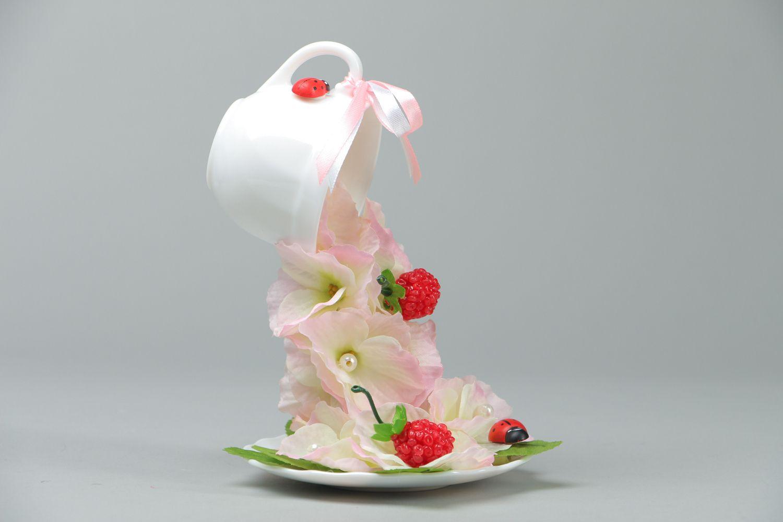 Handmade flower cup photo 1