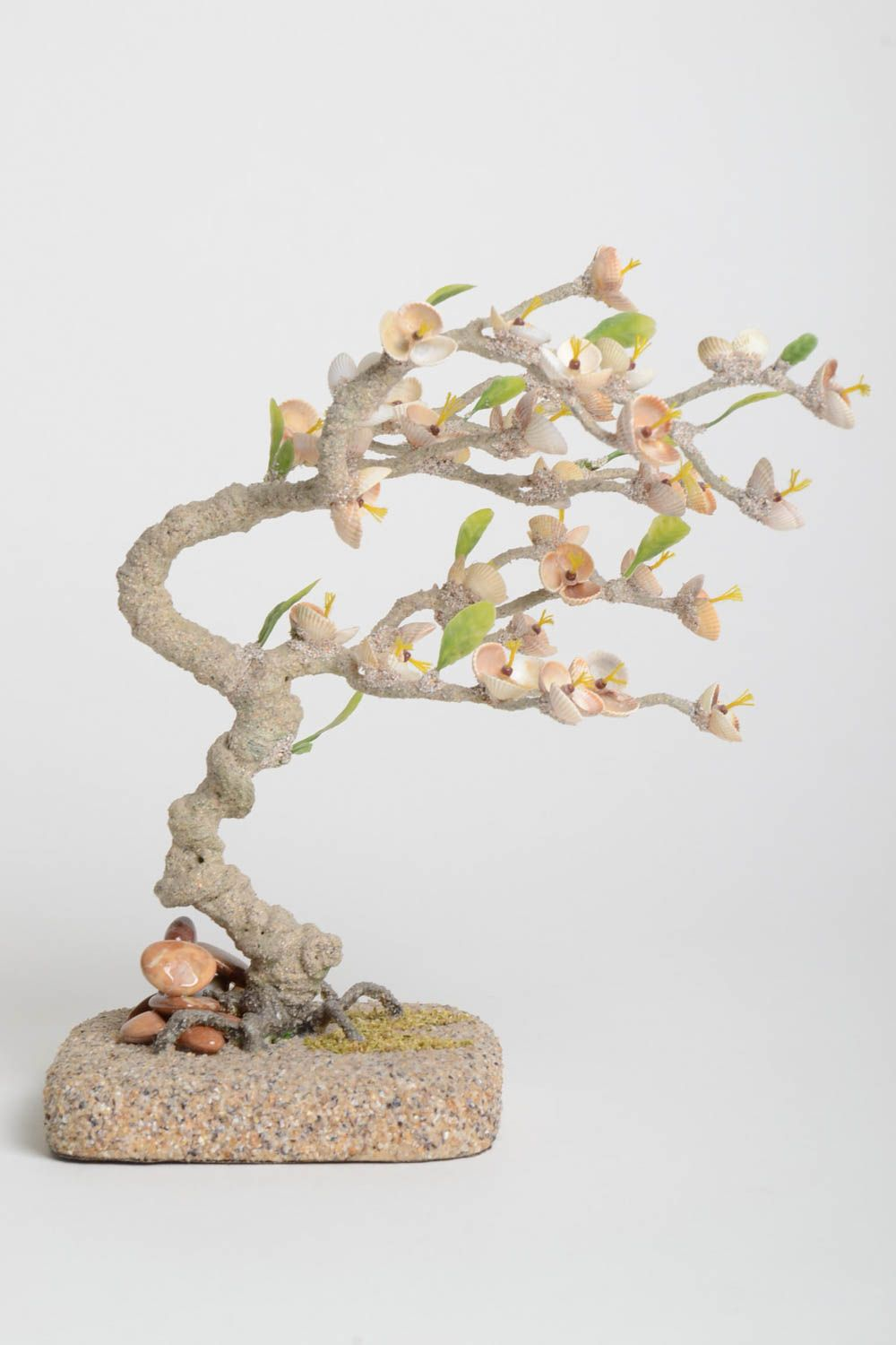 Handmade tree with flowers table decor gift ideas artificial tree home decor photo 2