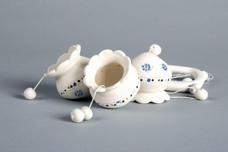 Ceramic bells on pendant photo 4