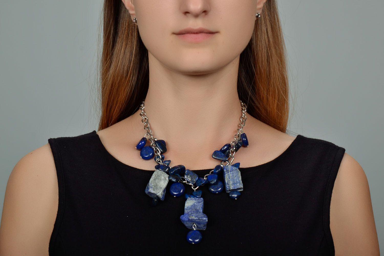 Lazurite necklace photo 1