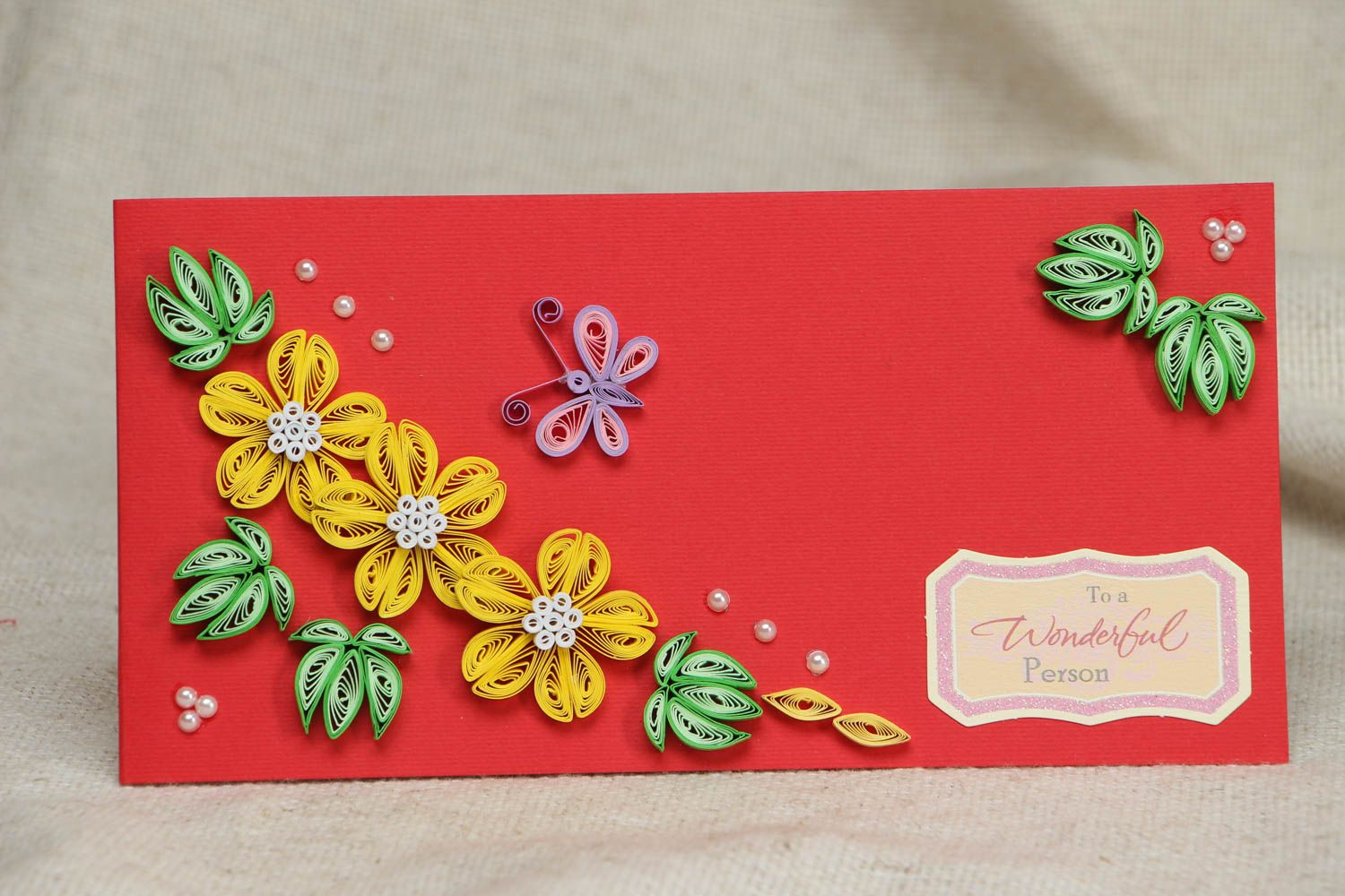 Greeting card with flowers photo 1