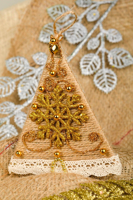 MADEHEART Adorno de Navidad casero artesanal arreglo para Fin de