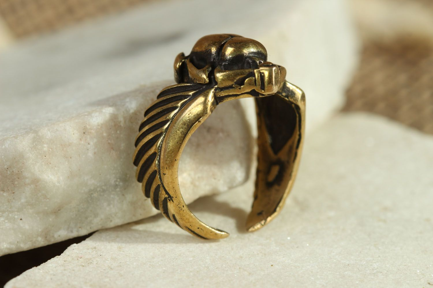 Bronze seal ring Scarab photo 2