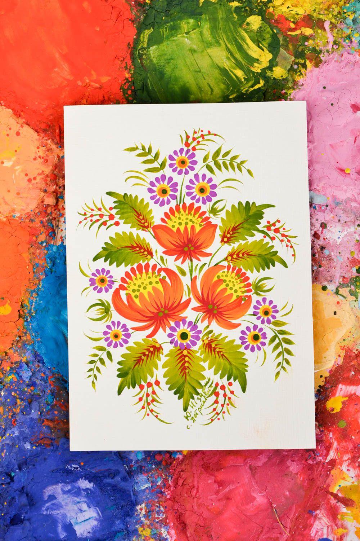 Unusual handmade greeting cards flower greeting card vintage post card photo 1