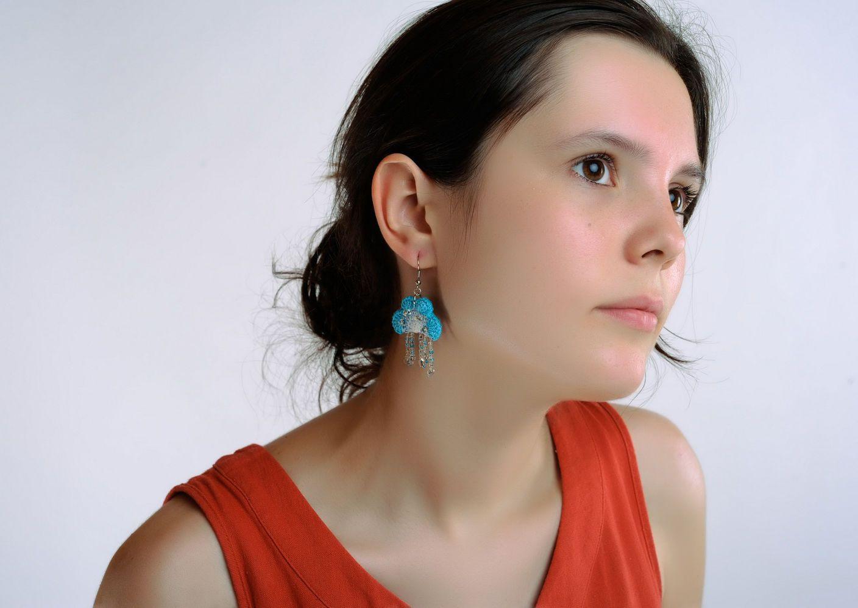 Acrylic earrings Heaven photo 2