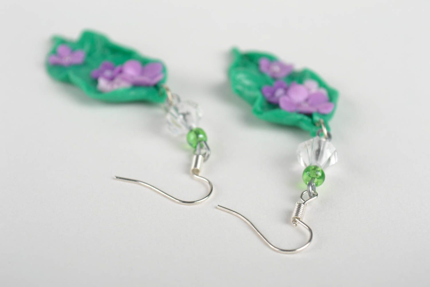 Polymer Clay Earrings Handmade Designer Handcrafted Jewelry Gift Ideas Madeheart