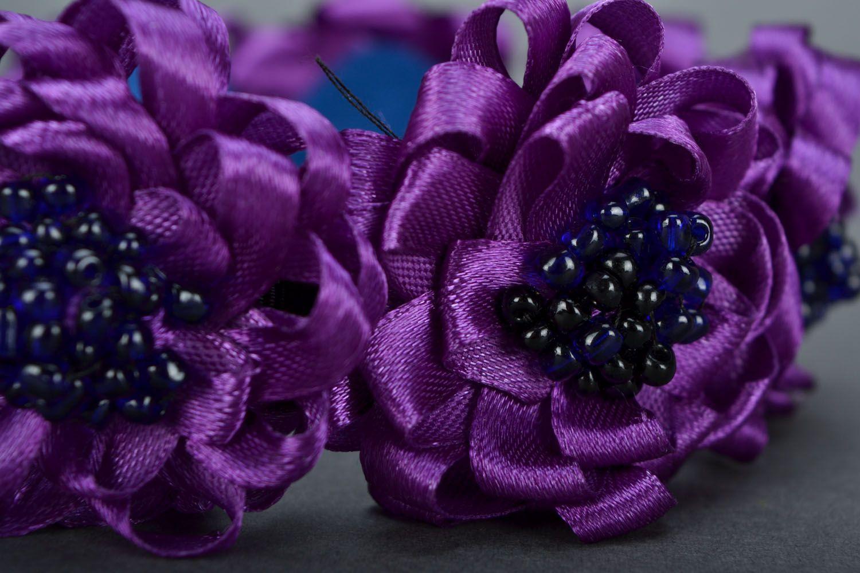 Фиолетовый обруч для волос  фото 4