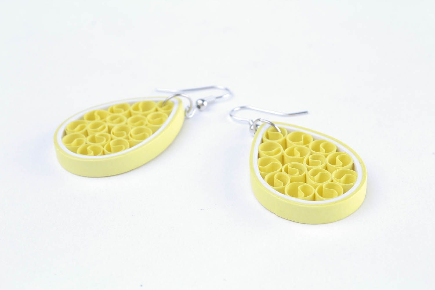 Quilling earrings with curls  photo 4
