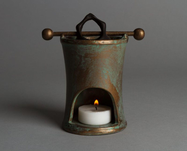 Clay aroma lamp photo 3
