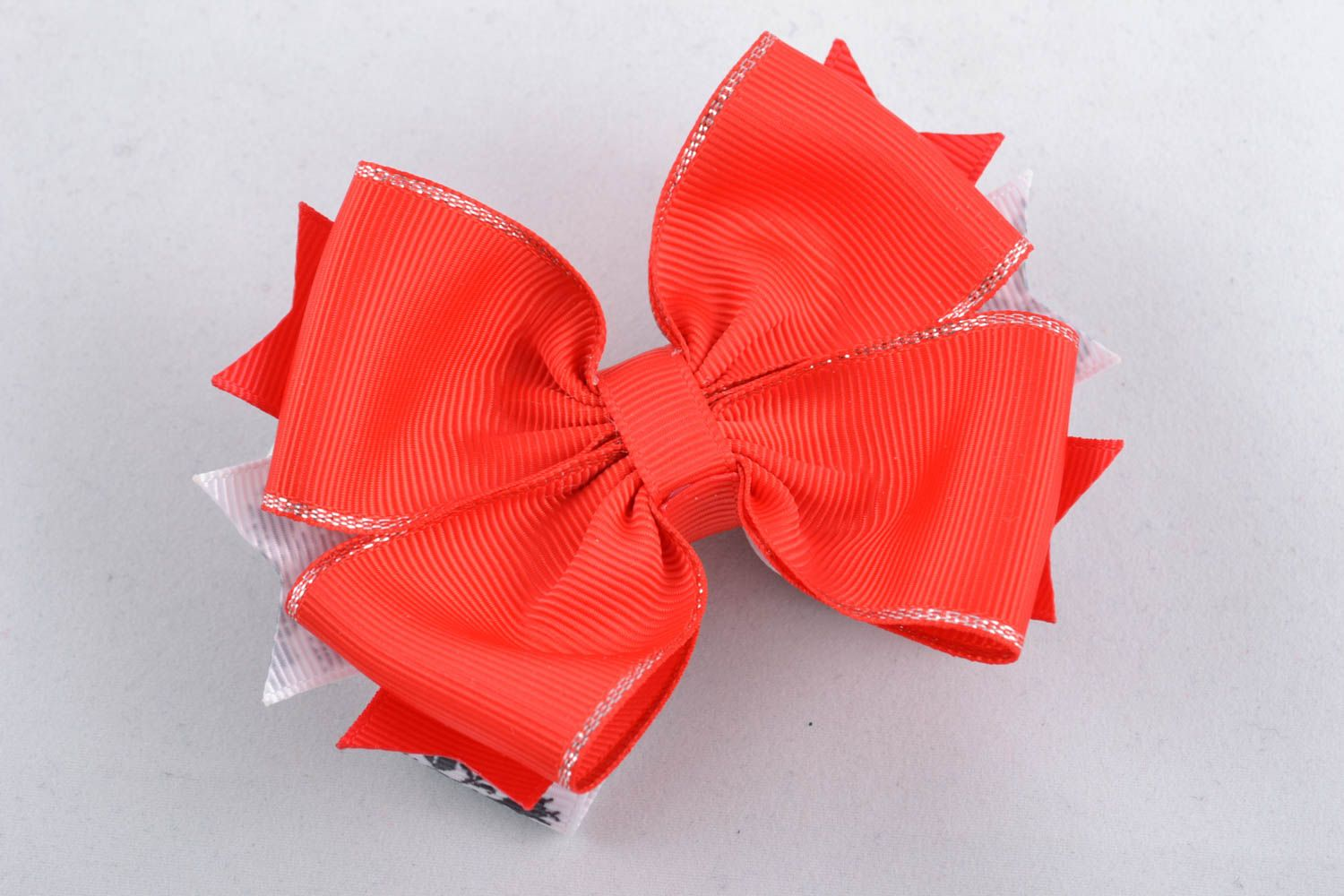 Ribbon bow for hair clip America photo 3