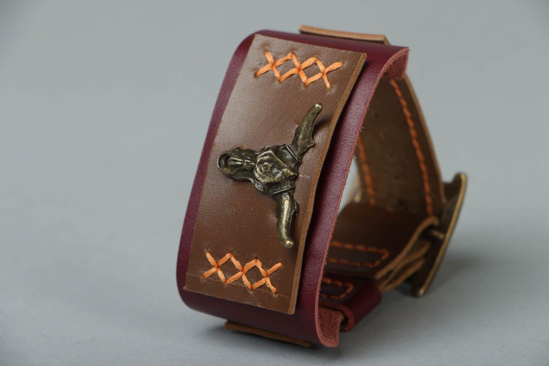 Leather bracelet Wild West photo 3