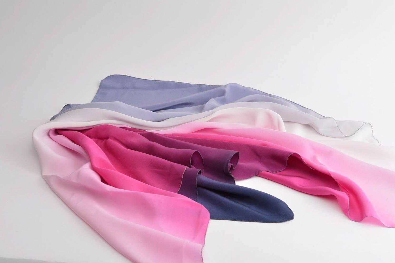 Handmade silk scarf batik scarf silk shawl designer accessories for women photo 4