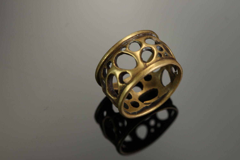 Бронзовое кольцо Сыр фото 3