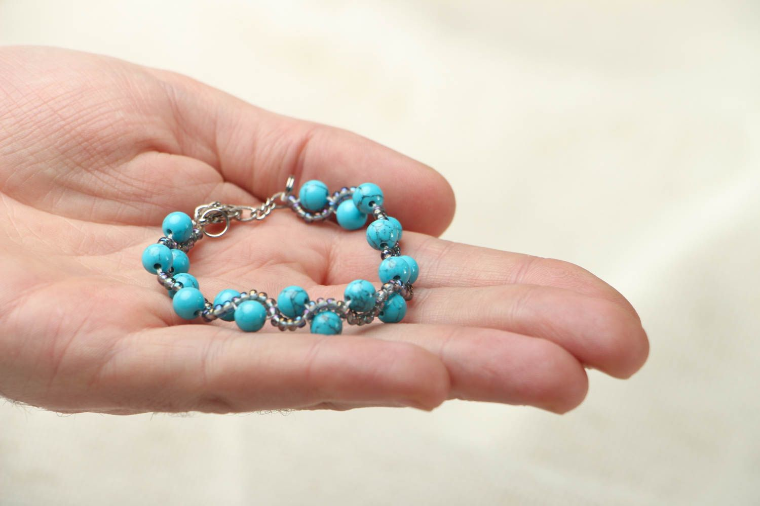 Bracelet with turquoise stone photo 3