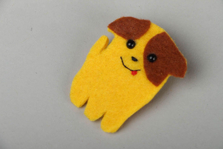 Felt brooch Dog photo 1