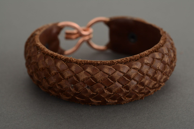 Кожаный браслет для женщин своими руками 802