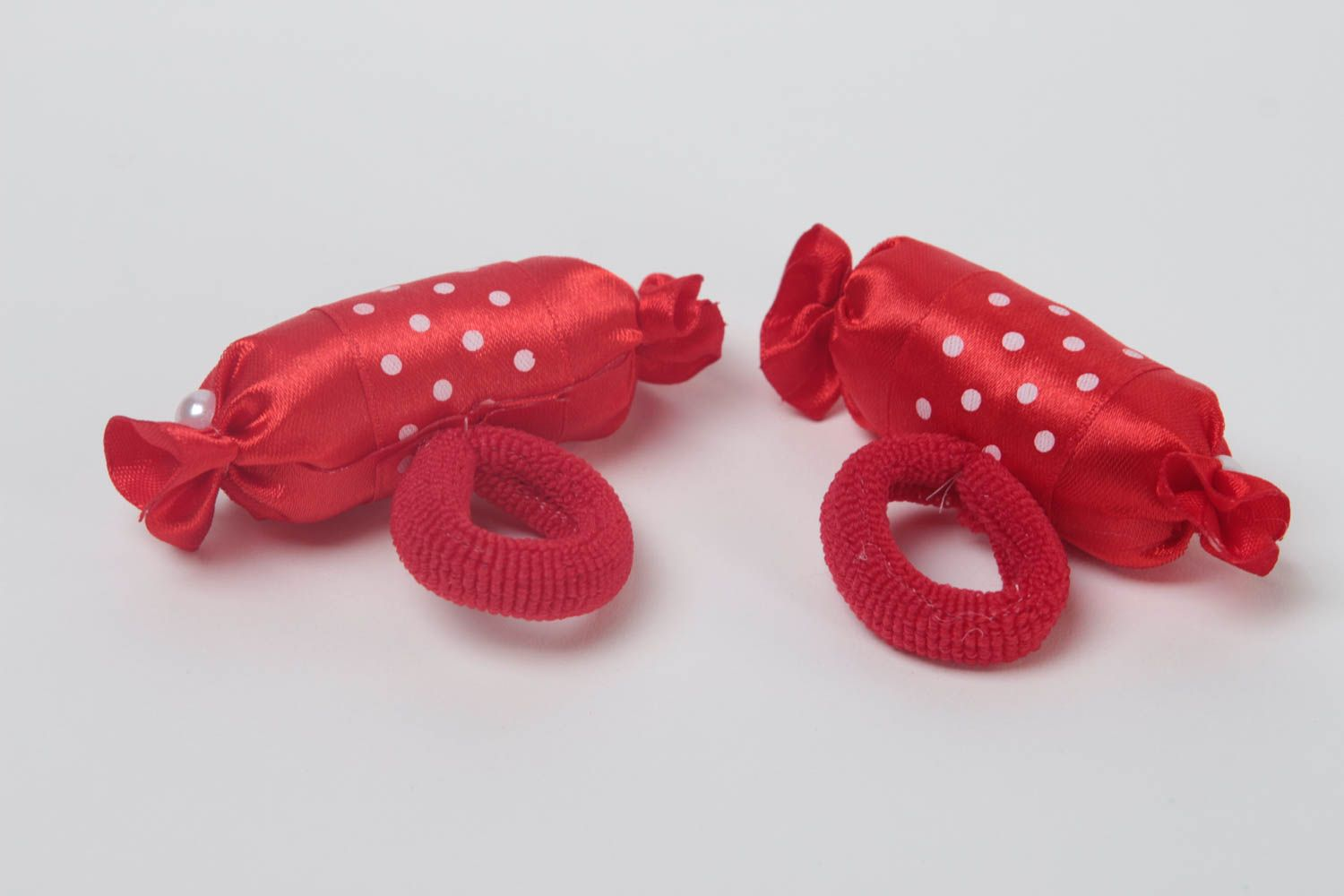 Set of 2 girls hair accessories hair ties hair scrunchies candy jewelry  photo 4