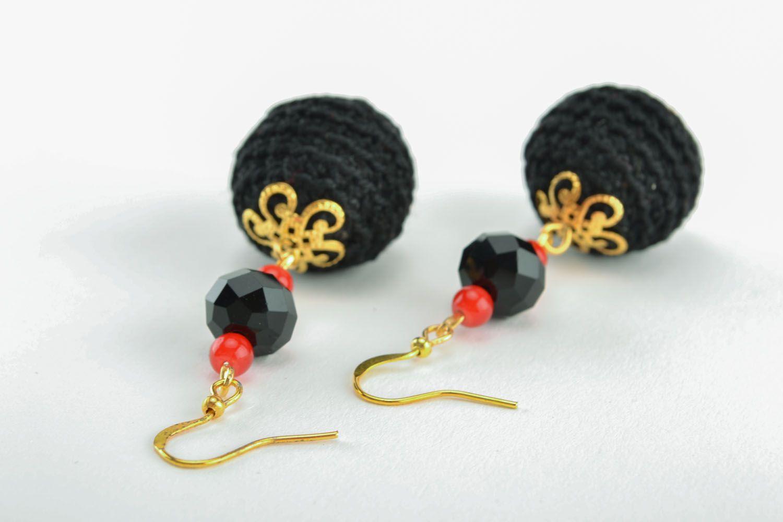 Lange Ohrringe handgemacht foto 1