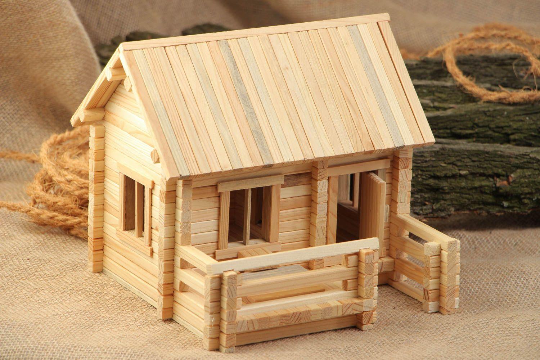 madeheart jeu de construction en bois fait main maison 208 pi ces pratique et original. Black Bedroom Furniture Sets. Home Design Ideas