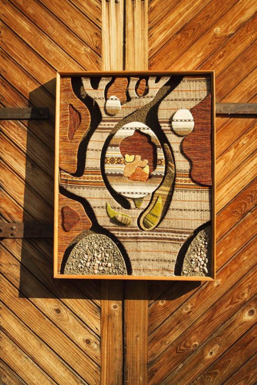 """MADEHEART > Tapiz mural enmarcado """"Nacimiento de la vida"""""""