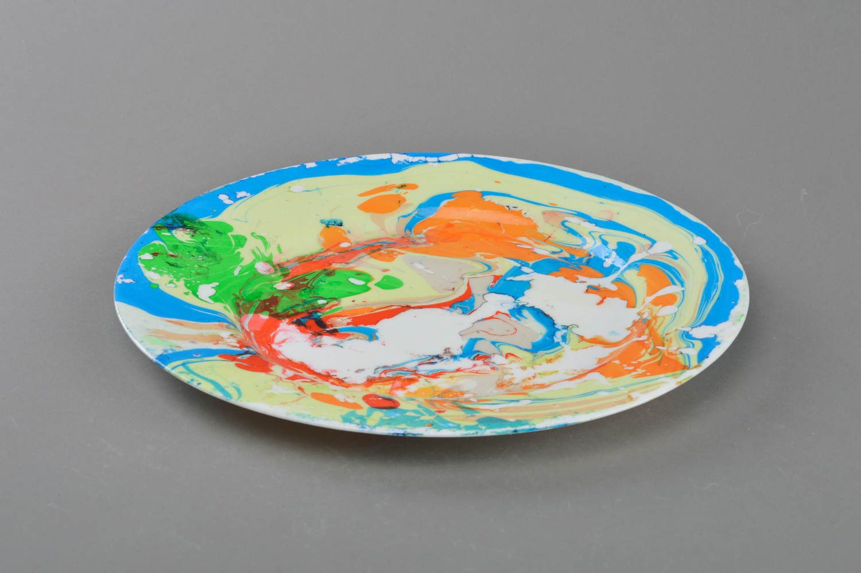 MADEHEART > Assiette décorative en verre imitation marbre faite ...