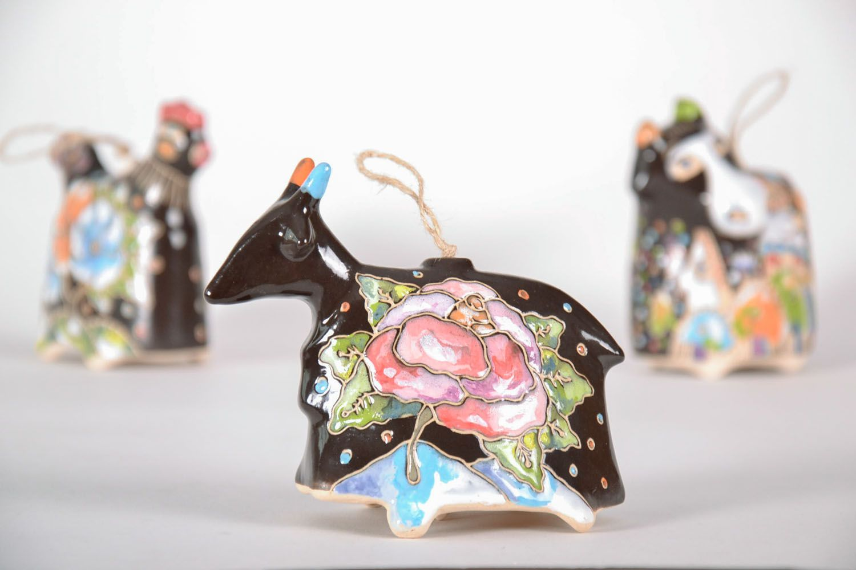 Ceramic bell Goat photo 1