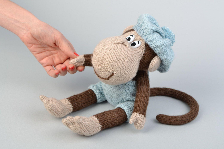 Вязание на спицах обезьянки