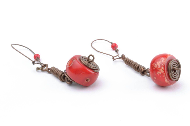 Copper earrings I'm so! photo 3