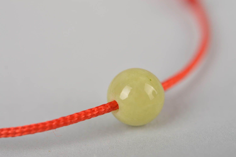 Украшение ручной работы модный браслет с оливковой бусиной красивый браслет фото 2