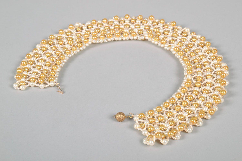 Multi-row beaded necklace photo 5