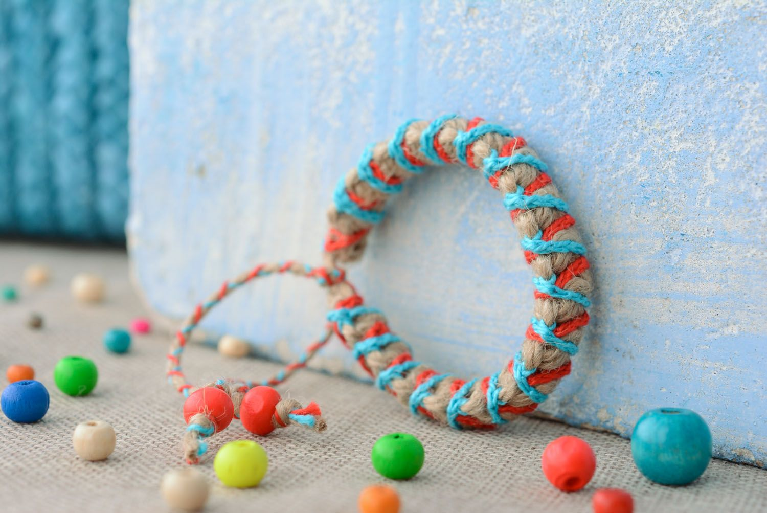 Braided friendship bracelet photo 1