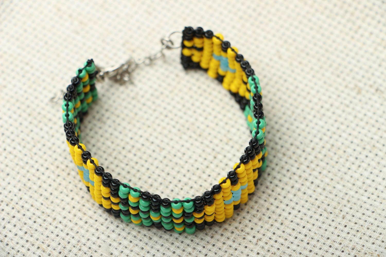 Wide beaded bracelet photo 2