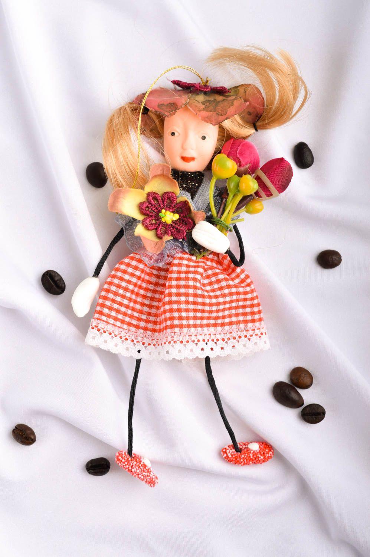 Unusual handmade rag doll collectible dolls nursery design decorative use only photo 1