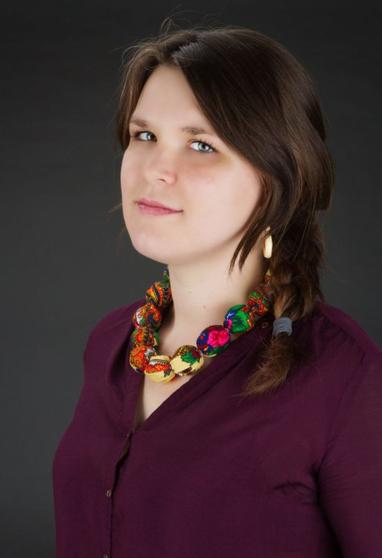 Bead necklace made of Ukrainian scarf photo 4