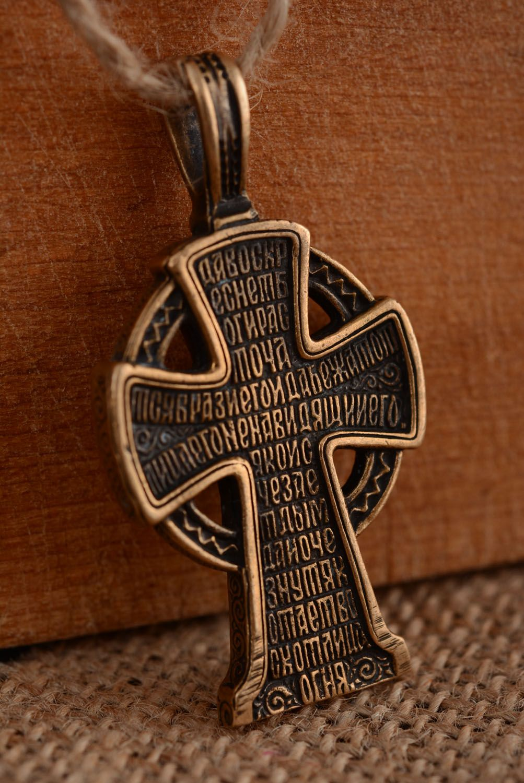 Крестик из бронзы ручной работы  фото 2